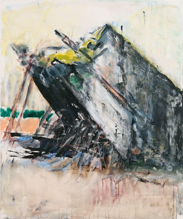 """""""Grabstein eines deutschen Traums 2"""", Reste des Führerbunkers Wolfsschanze, 120 x 100 cm, 2014"""