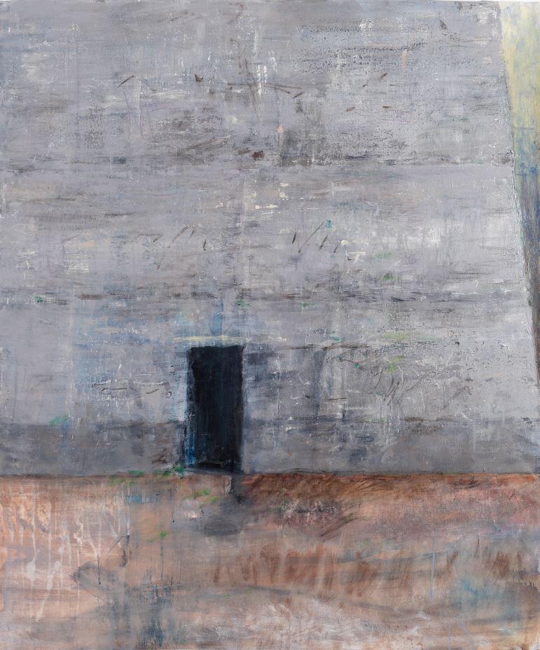 """""""Grabstein des deutschen Traums"""" (Virilio), Acryl auf Leinwand, 120 x 100 cm, 2014"""