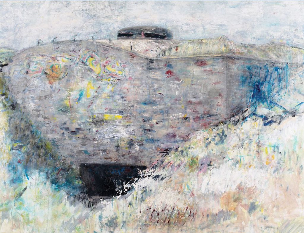 """Denkmal der Gefahr 3"", Acryl auf Leinwand, 145 x 195 cm, 2013 11 ""Denkmal der Gefahr 2"", Acryl auf Leinwand, 145 x 185 cm, 2012"