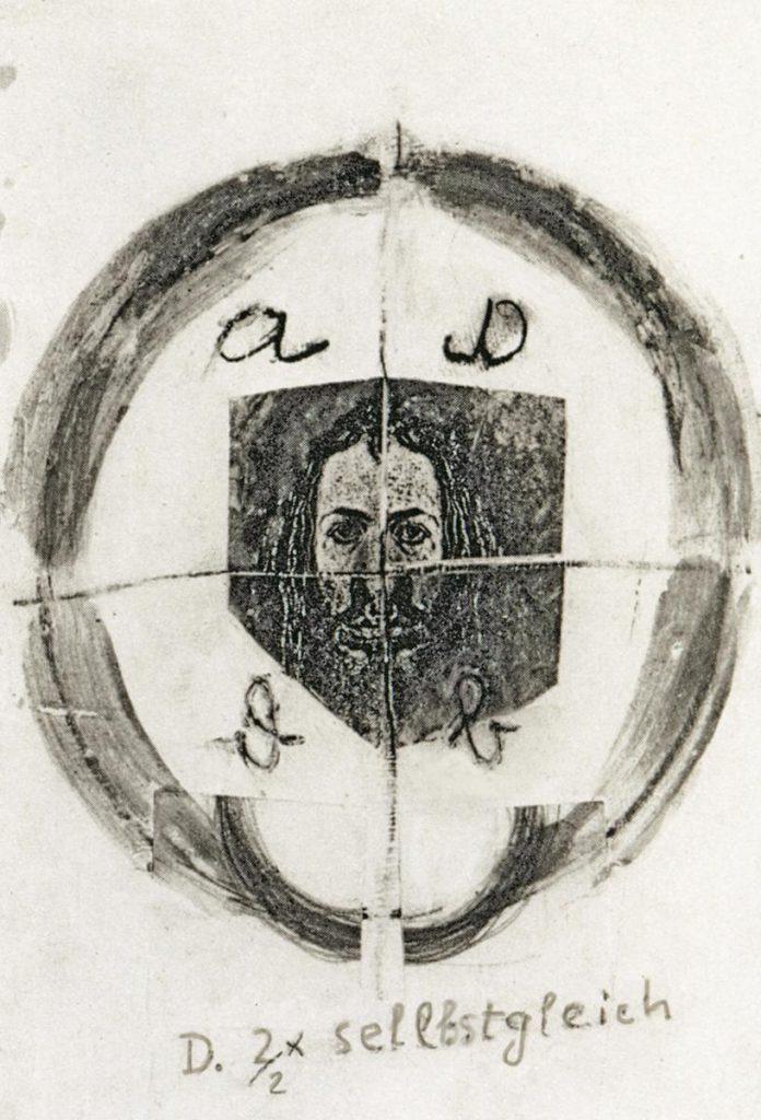 """""""Dürer selbstgleich 3"""", Copycollage"""