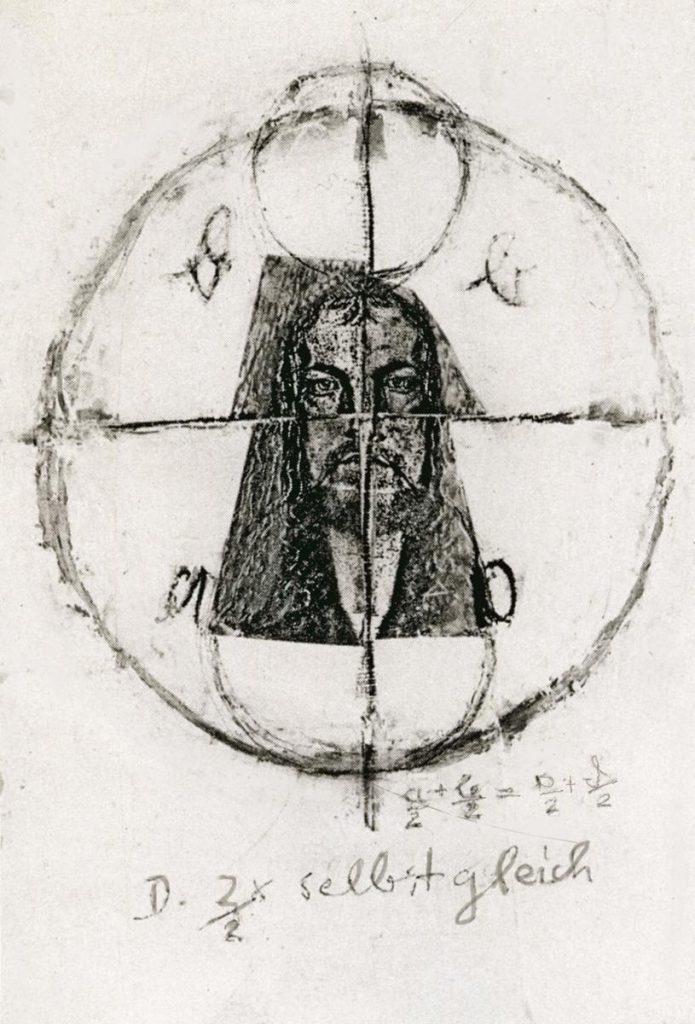 """""""Dürer selbstgleich 4"""", Copycollage"""