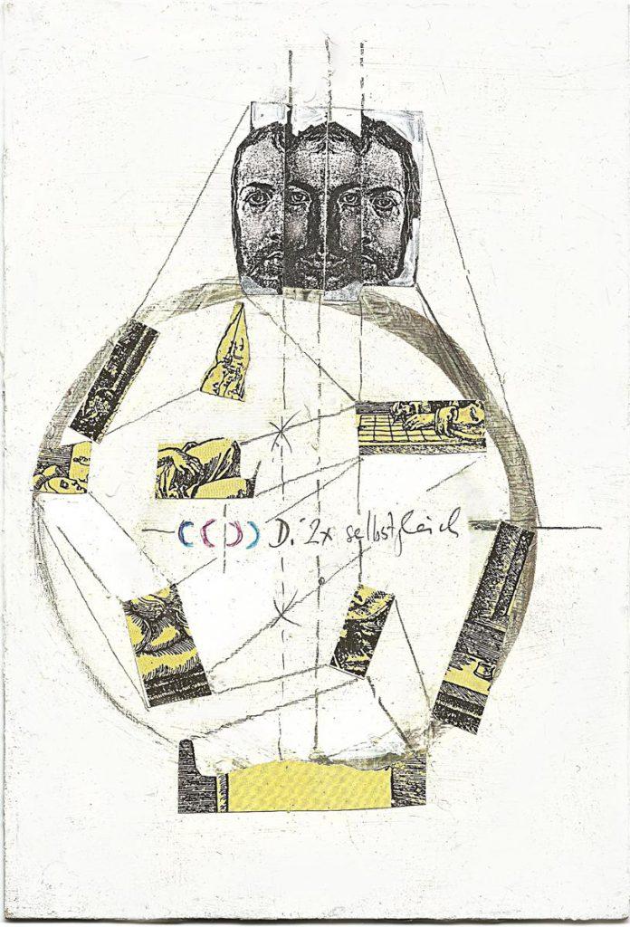 """""""Dürer 2x selbstgleich"""", Collage"""