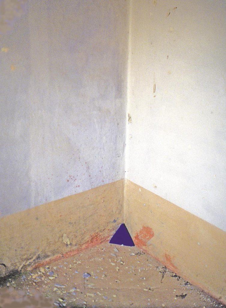 """""""Kleines Raumeck"""", Tetraeder, Pigmente und Zement, Italien 1988"""