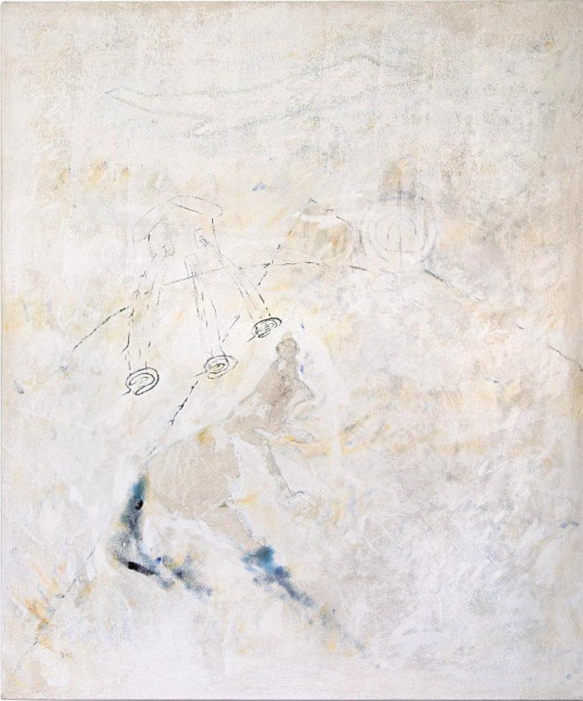 """""""Weißes Bild"""", Acryl und Mischtechnik auf Leinwand, 120 x 100 cm, 1998"""