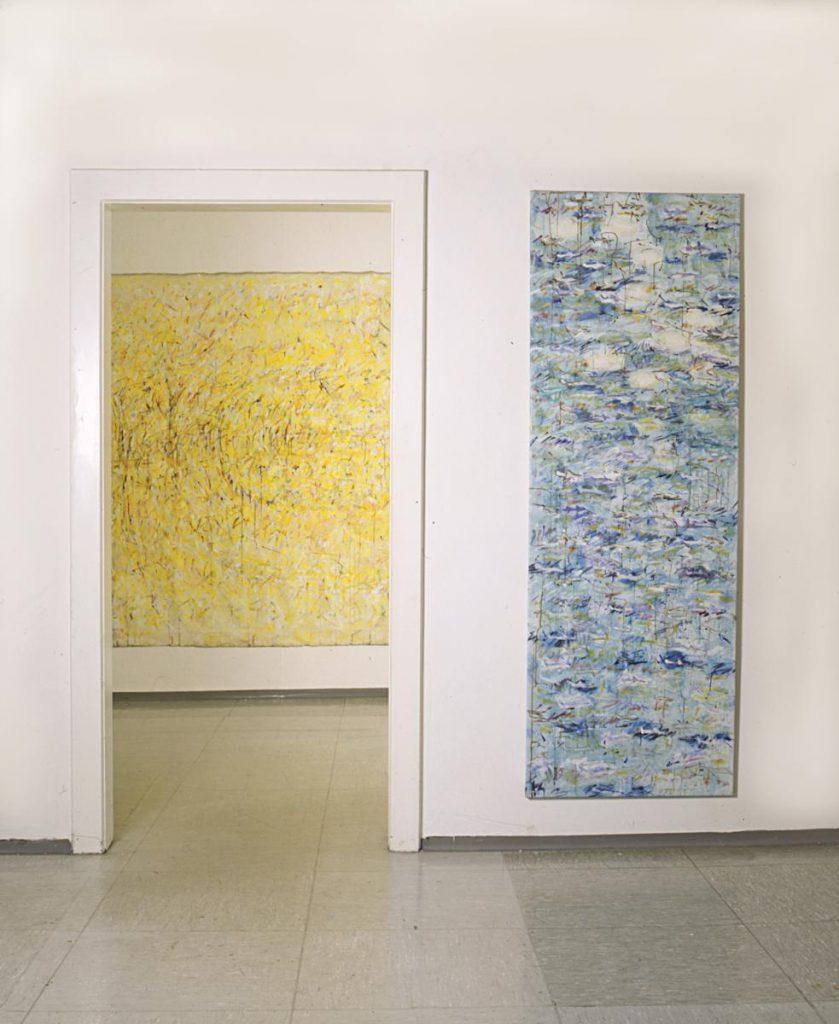 """Blick in die Ausstellung """"Farbstücke"""", Palais Stutterheim, Erlangen, 2000"""