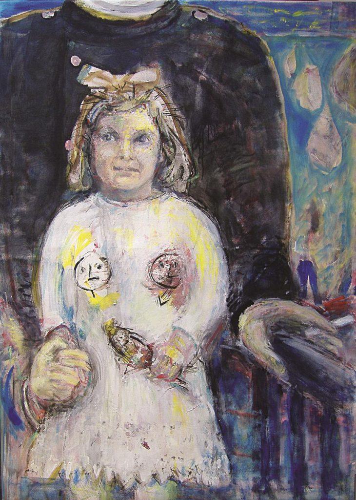 """""""Louise Bourgeois as a child"""", Acryl auf Leinwand, 140 x 100 cm, 2006"""
