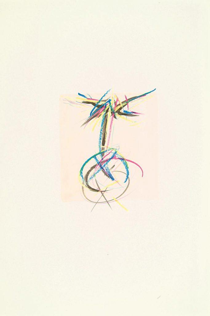 """""""Schrei 2"""", Farbkreide und Tusche auf Papier, 85 x 61 cm, 1982"""