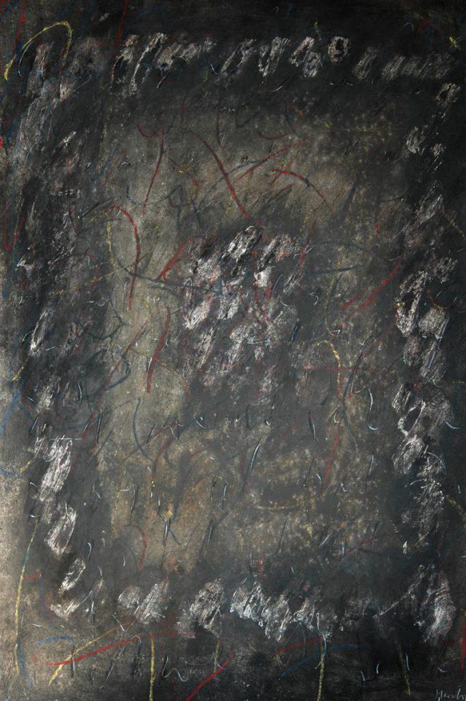 """""""Winterbrief 4"""", Mischtechnik auf Papier, 85 x 61 cm, 1981"""