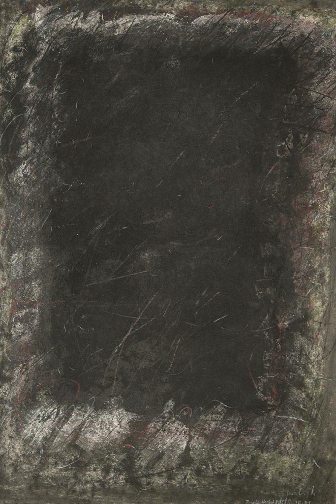 """""""Winterbrief 1"""", Mischtechnik auf Papier, 85 x 61 cm, 1981"""