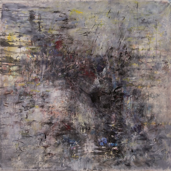"""Turbulenza/Mediterraneo"", Acryl auf Leinwand, 150 x 200 cm, 2015, Ausschnitt"