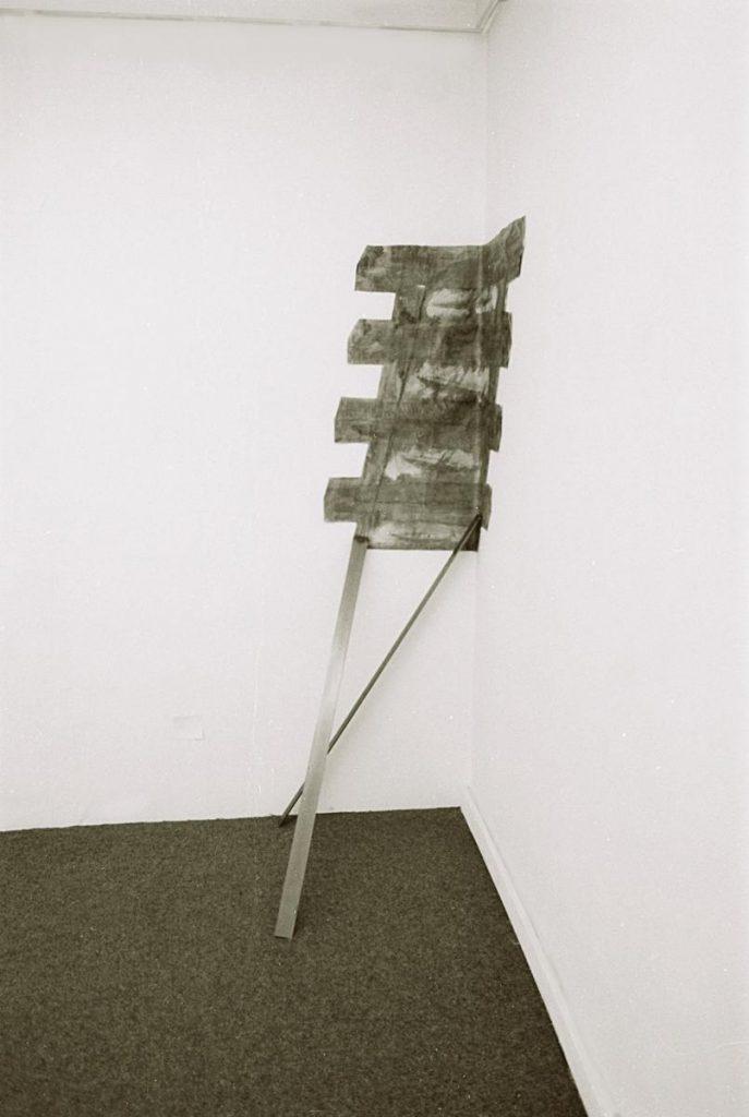 Raumeck, Papier, Farbe (Mischtechnik), Metall