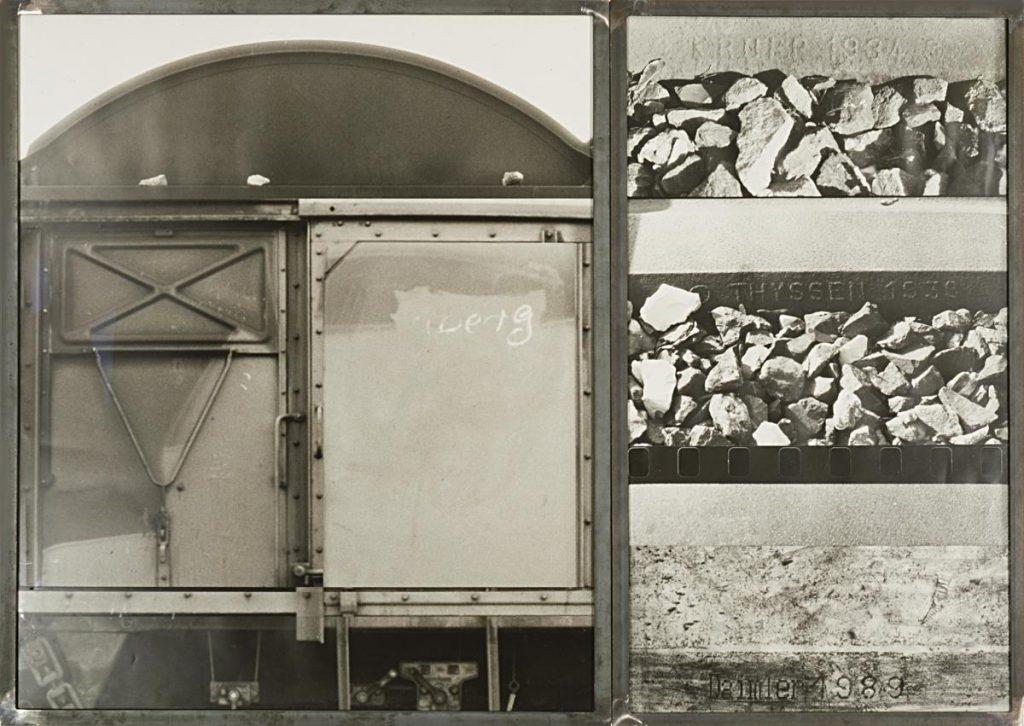 "2-teilige Fotomontage, 112 x 158 cm 1988 / 1989, Teil der Installation ""Ringbahn"", 1991"