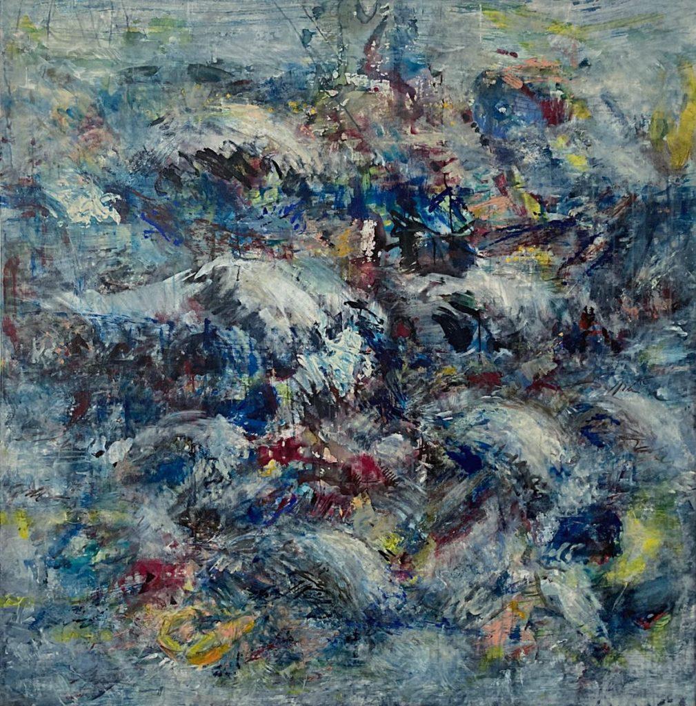 """Mediterraneo III"", Acryl auf Leinwand, 145 x 142 cm, 2018"