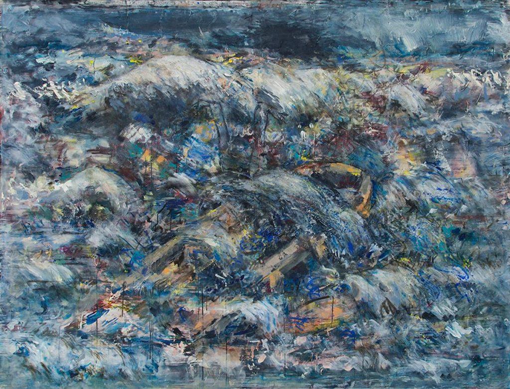 """Mediterraneo IV"", Acryl auf Leinwand, 200 x 154 cm, 2916–2019"