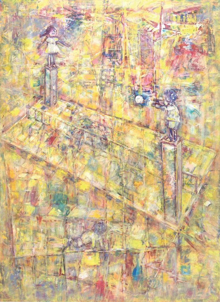 """""""urban kids"""", Acryl auf Leinwand, 200 x 145 cm, 2010"""