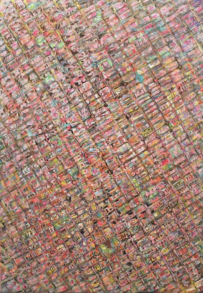 """New York 3"", Acryl auf Leinwand, 100 x 70 cm, 2010"