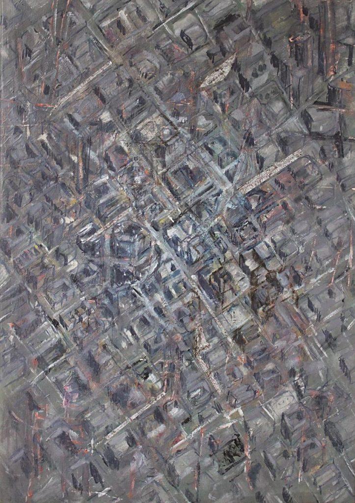 """""""Stadtstück 6"""", Berlin, Acryl und Mischtechnik auf Leinwand, 100 x 70 cm, 2009"""