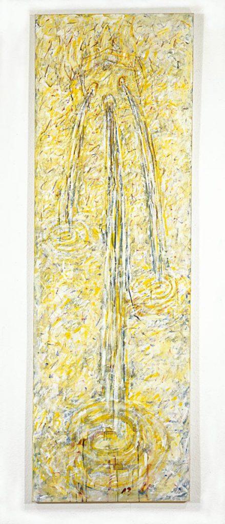 """Verlassenes Haus"", Acryl auf Leinwand, 200 x 65 cm, 1998"