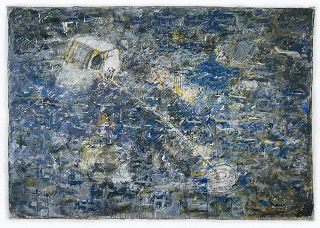 """""""Blau 5"""", Acryl und Mischtechnik auf Leinwand, 200 x 300 cm, 1998"""