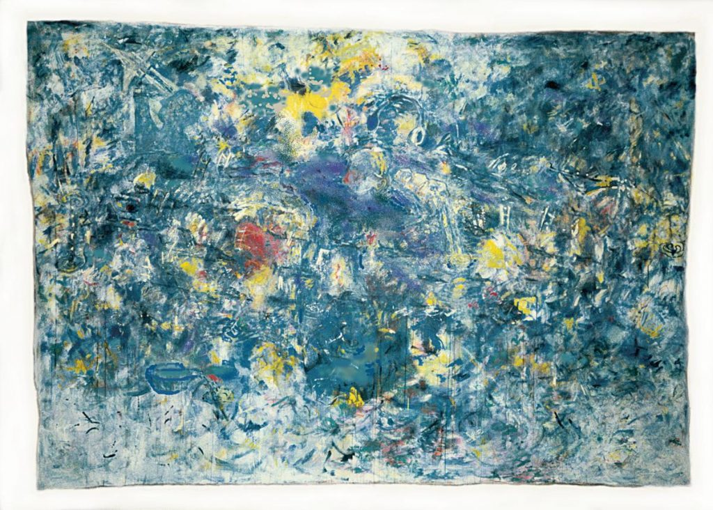 """""""Himmelsstück 7"""", Acryl und Mischtechnik auf Leinwand, 200 x 300 cm, 2000"""
