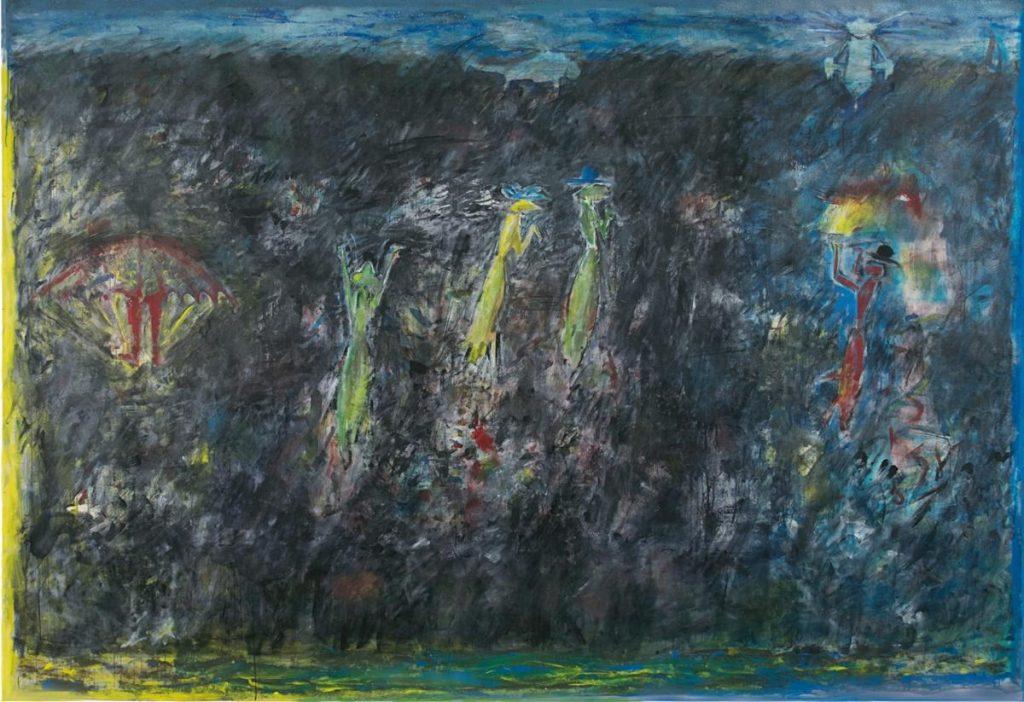 """""""Das Schwarze ist die Welt 2"""", Acryl auf Leinwand, 200 x 300 cm, 2002"""