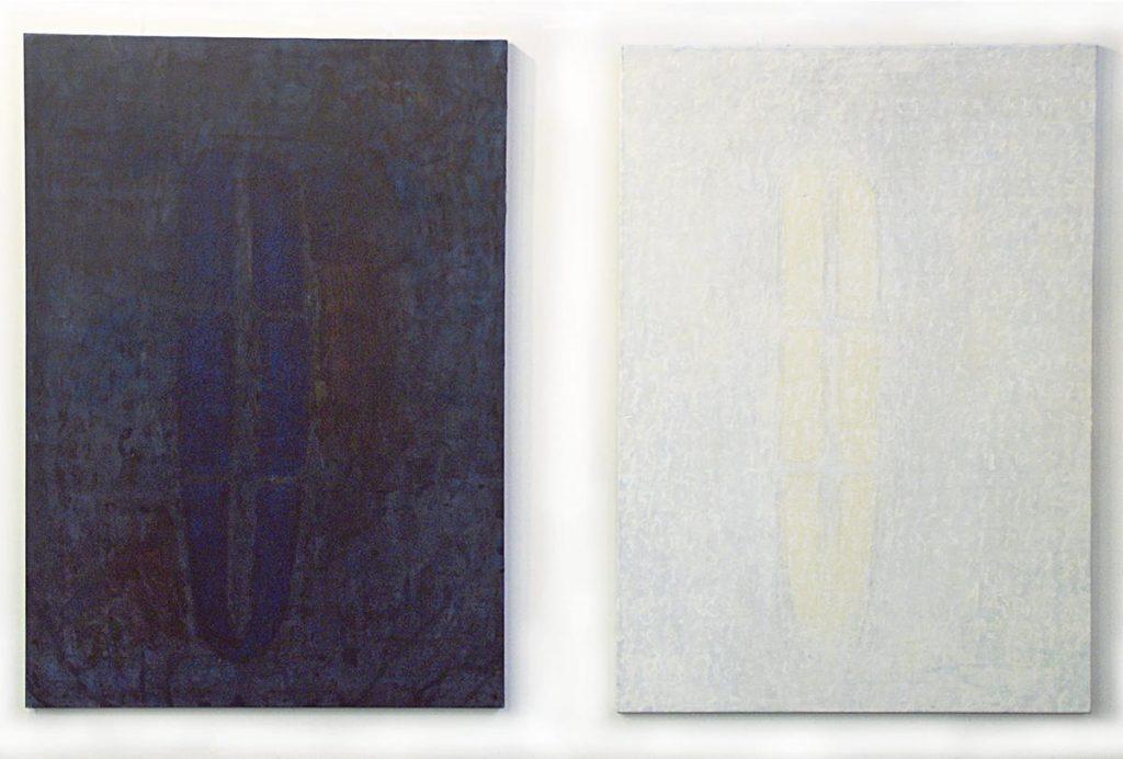 """""""Windows 1 und 2"""", Acryl auf Leinwand, je 200 x 140 cm, 2003"""
