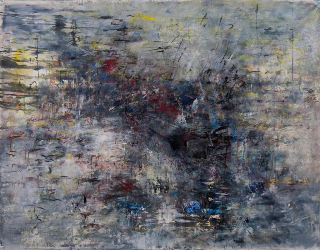 """""""Turbulenza/Mediterraneo"""", Acryl auf Leinwand, 150 x 200 cm, 2015"""